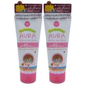 Karmart Aura Crystal Sun Cream SPF45 PA+++ 140g Cathy DollSuntection 2 หลอด