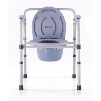 เก้าอี้นั่งขับถ่าย ผู้สูงอายุ/ผู้ป่วย KDB-894A แบบมีพนักพิง ปรับความสูงได้ พร้อมถังขับถ่าย ขนาด 55 x 20 x 69 cm.