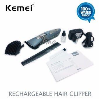 อุปกรณ์ตัดแต่งทรงผม Kemei Rechargeable Hair Clipper ปัตตาเลี่ยน ไร้สาย ตัดผมสั้น ที่ตัดผมไฟฟ้า เครื่องตัดผม ตัดขน บัตตาเลี่ยน โกนผม โกนหนวด โกนขน แบตตาเลี่ยน แบบไร้สาย ตัดผมเด็ก ชุดบัดตาเลียน ชาร์ตไฟได้ ใบมีดโลหะผสมชนิดพิเศษ กันน้ำได้ Waterproof KM-605