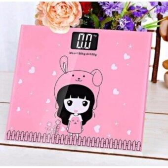 ฟรี! ส่งKerry สินค้ามาใหม่!!! Electronic weight scale เครื่องชั่งน้ำหนักดิจิตอล กาตูน (pink)