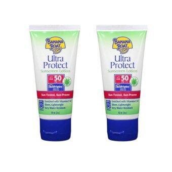 ครีมกันแดดทาตัว บานาน่าโบ๊ท Banana Boat Ultra Protect Sunscreen Lotion SPF50 PA+++ 90ml (2 หลอด)