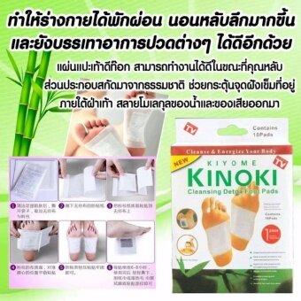 Kinoki Detox Foot Pad แผ่นแปะเท้าดูดสารพิษ ล้างสารพิษ 1 กล่อง