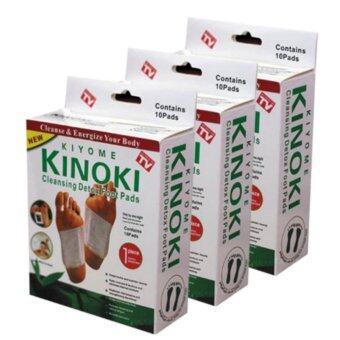 Kinoki Detox Foot Pad แผ่นแปะเท้าดูดสารพิษ ล้างสารพิษ 3 กล่อง