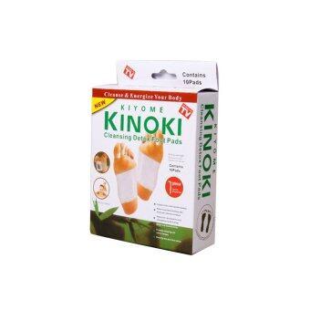 ขาย KINOKI Foot Pads แผ่นแปะเท้า แผ่นติดเท้า ช่วยผ่อนคลายฝ่าเท้า - (10แผ่น/กล่อง)