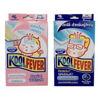 2560 Kool Feverแผ่นเจลลดไข้สำหรับเด็กเล็ก(6แผ่น)+ผู้ใหญ่(6แผ่น)