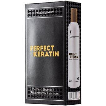 L'ANGEL Perfect Keratin Professional Use เพอร์เฟ็ค เคราติน 258ml.x2 กล่องดำ