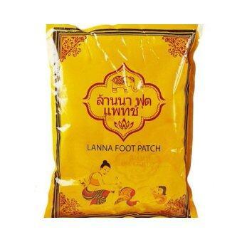 Lanna Foot Patch ล้านนา ฟุต แพทช์ แผ่นปะเท้า 6 ซอง บรรจุซองละ 10 แผ่น (5คู่)