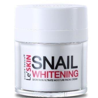 Le Skin Snail Whitening Facial Cream เลอสกินเสนล ครีมเมือกหอยทาก ปรับผิวหน้าขาวใส ลดจุดด่างดำ แก้แผลผ่าตัด แผลคีรอยด์ รอยดำ 50ml 1ชิ้น