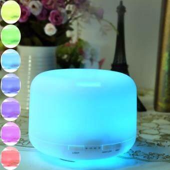 เครื่องพ่นอโรม่า สินค้าขายดีในญี่ปุ่น LED USB Essential Oil aroma diffuser therapy Spa 500ml 7สี เครื่องทำความชื้น เครื่องทำสปา เครื่องทำอโม่า เครื่องฟอก เครื่องพ่น เครื่องพ่นไอน้ำ Ess