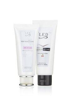 LED White Set Mini ชุดบำรุงผิวกายเพื่อผิวขาว แอลอีดี ไวท์ เซ็ท มินิ ขนาด 100 ML. (1 คู่)