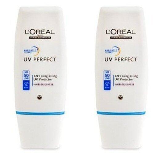 LOREAL PARIS UV PERFECT ANTI DULLNESS SPF 50+/ PA+++ ลอรีอัล ยูวี เพอร์เฟ็คท์ แอนตี้ ดัลเนส แพ็คคู่