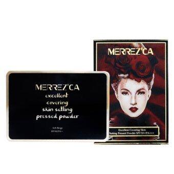 Merrez'ca Excellent Covering Skin Setting Pressed Powder #21 Light Nude แป้งพัฟกันน้ำ เมอร์เรซกา Merrezca