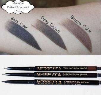 Merrez'ca Perfect Brow Pencil #Deep Brown เมอร์เรซกาดินสอเขียนคิ้วเส้นเรียวเล็ก