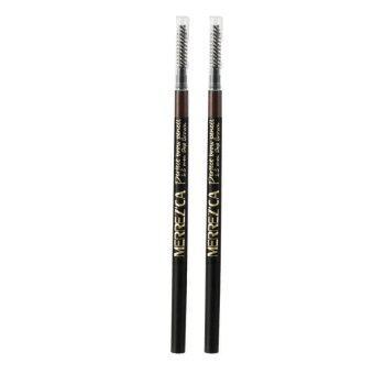 Merrez'ca Perfect Brow Pencil #Deep Brown ดินสอเขียนคิ้ว สีน้ำตาลเข้ม จำนวน 2 แท่ง