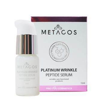ขอเสนอ Metacos Platinum Wrinkle Peptide Serum 15ml (เซรั่มบำรุงผิวหน้า ที่มีคุณสมบัติในการแก้ปัญหาริ้วรอยโดยเฉพาะ)