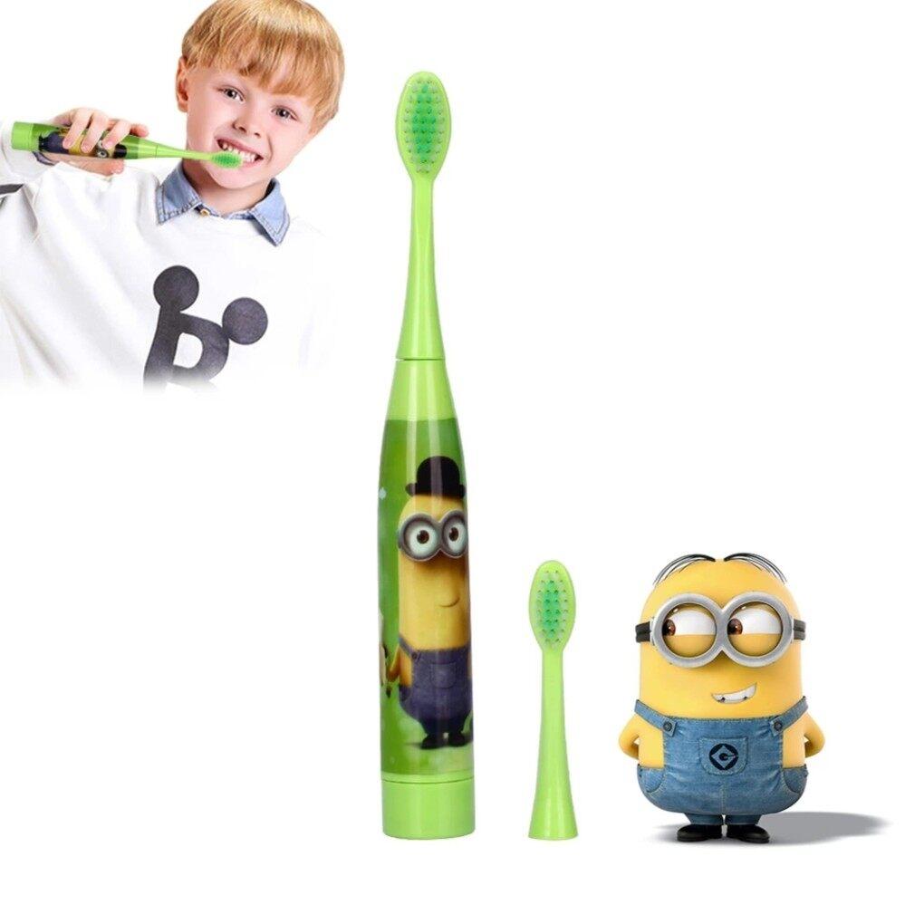 แปรงสีฟันไฟฟ้า ทำความสะอาดทุกซี่ฟันอย่างหมดจด สตูล แปรงสีฟันไฟฟ้า ลาย minnion