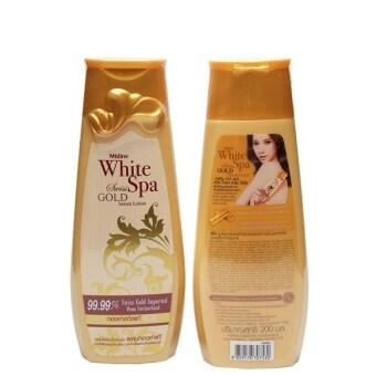 Mistine White Spa Swiss Gold Serum Lotion 200 ml.