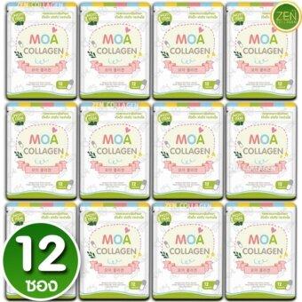 MOA Collagen โมเอะ คอลลาเจน คอลลาเจนสูตรพิเศษ สกัดจากธรรมชาติ เร่งผิวขาวใส ไวท์ออร่า เซ็ต 12ซอง (12 แคปซูล / ซอง)
