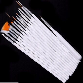 อยากขาย Nail Styling Brush 15 pieces Nail Accessories Beauty accessories(White/ขาว)