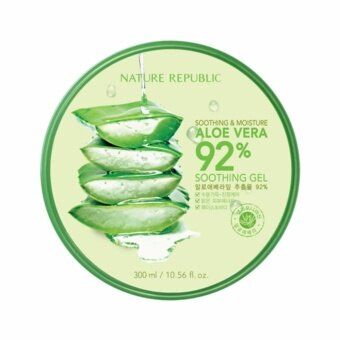 ขอเสนอ Nature Republic Soothing & Moisture Aloe Vera 92% Soothing Gel 300ml 1 กระปุก