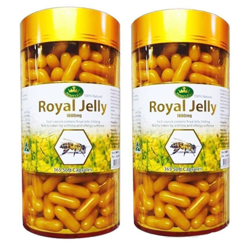 Natures King Royal Jelly นมผึ้ง 1000 mg.  2 กระปุก