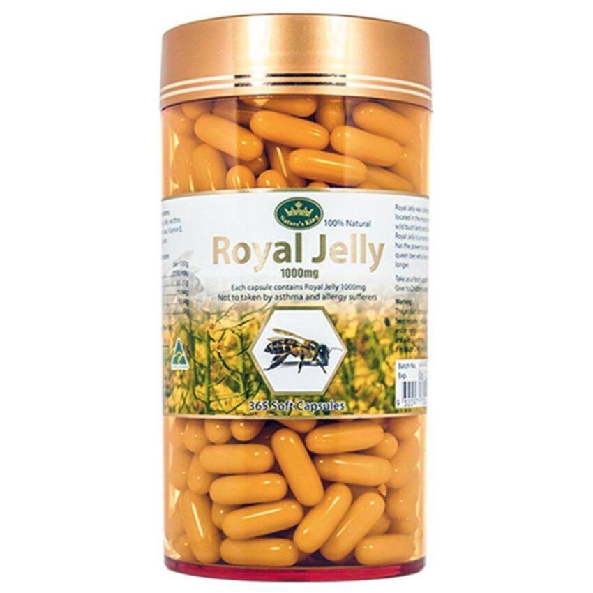 มาใหม่ Nature's King Royal Jelly นมผึ้ง 1000 mg. (365 เม็ด) แนะนำ
