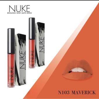 Nuke Lip Matte นุคลิปแมท ลิปกำมะหยี่ ลิปสีสวย สีแน่น ไม่หลุด สีส้มอิฐ เบอร์ 103 Maverick 2แท่ง