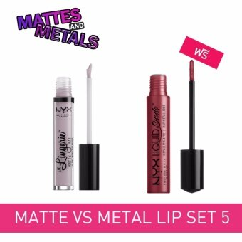 NYX Professional Makeup Matte VS Metal Lip set 5