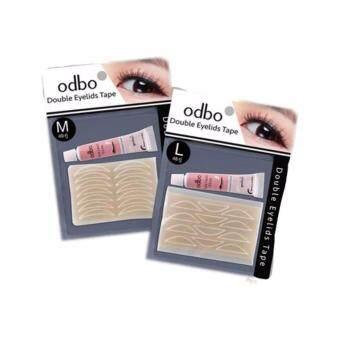 Odbo Double Eyelids Tape โอดีบีโอ ดับเบิล อายลิด เทปเซตตาข่ายสำหรับตาสองชั้น พร้อมที่คีบ 49 คู่ (Size M) 48 คู่ (SizeL)