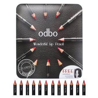 ODBO โอดีบีโอ ลิปเขียนขอบปาก ดินสอเขียนขอบปาก ลิปดินสอ odbo WonderLip Pencil 12 แท่ง