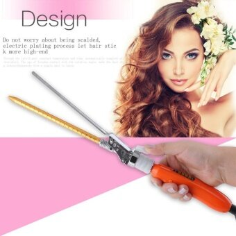OH Electric Hair Curler Ceramic Curling Wave Machine Portable Roller Curling Wand Golden - intl