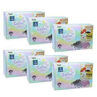 Omo Plus Coffee Slim กาแฟลดน้ำหนัก โอโม่ บรรจุ 10 ซอง (6 กล่อง)