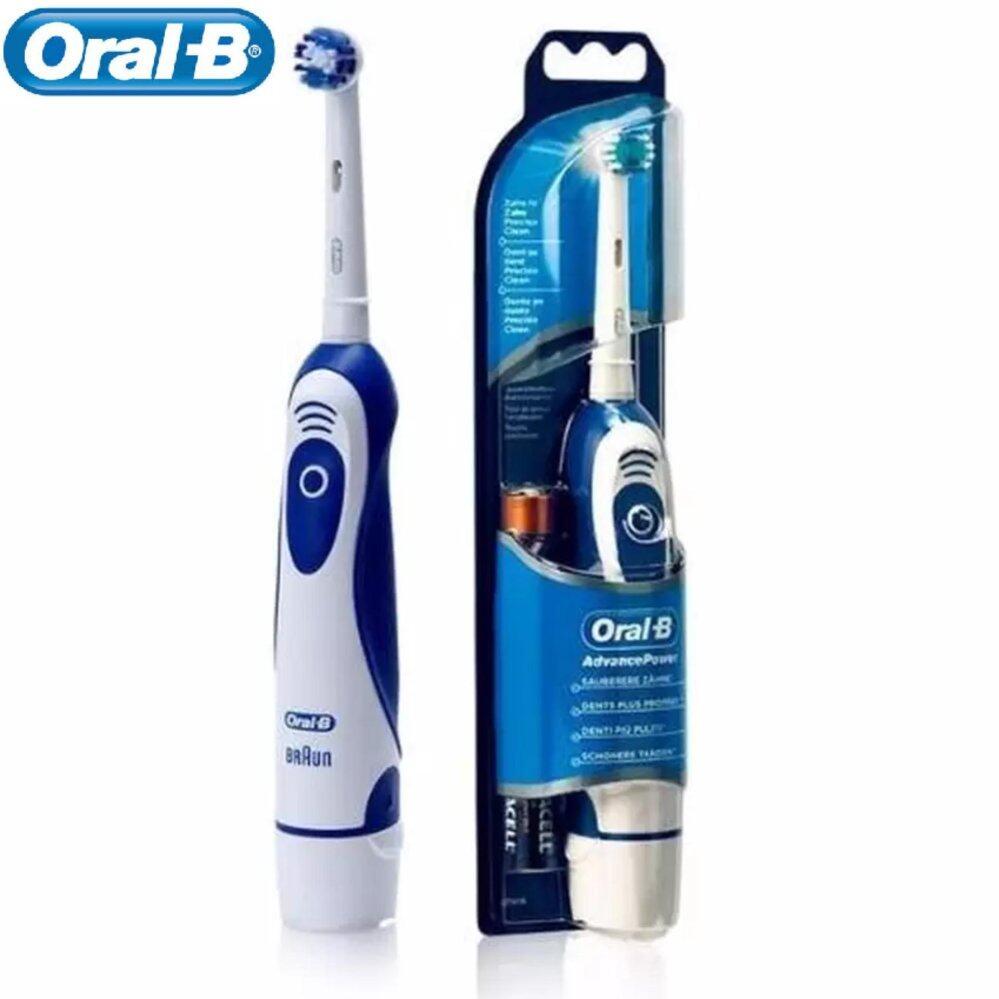 แปรงสีฟันไฟฟ้าเพื่อรอยยิ้มขาวสดใส บึงกาฬ Oral B แปรงสีฟันไฟฟ้า ออรัล บี Advance Power400 DB4010 Battery Powered Electric Toothbrush  White Blue