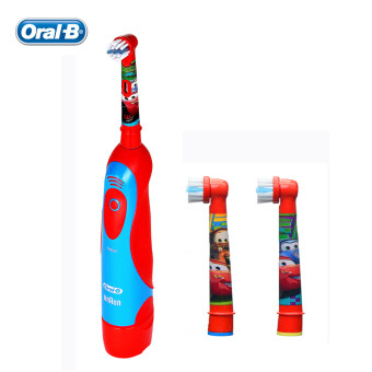Oral B Children/kids Electric Toothbrush DB4510K Pixar Cars for Boys Toothbrush + 2 Rechangeable Brush Heads set