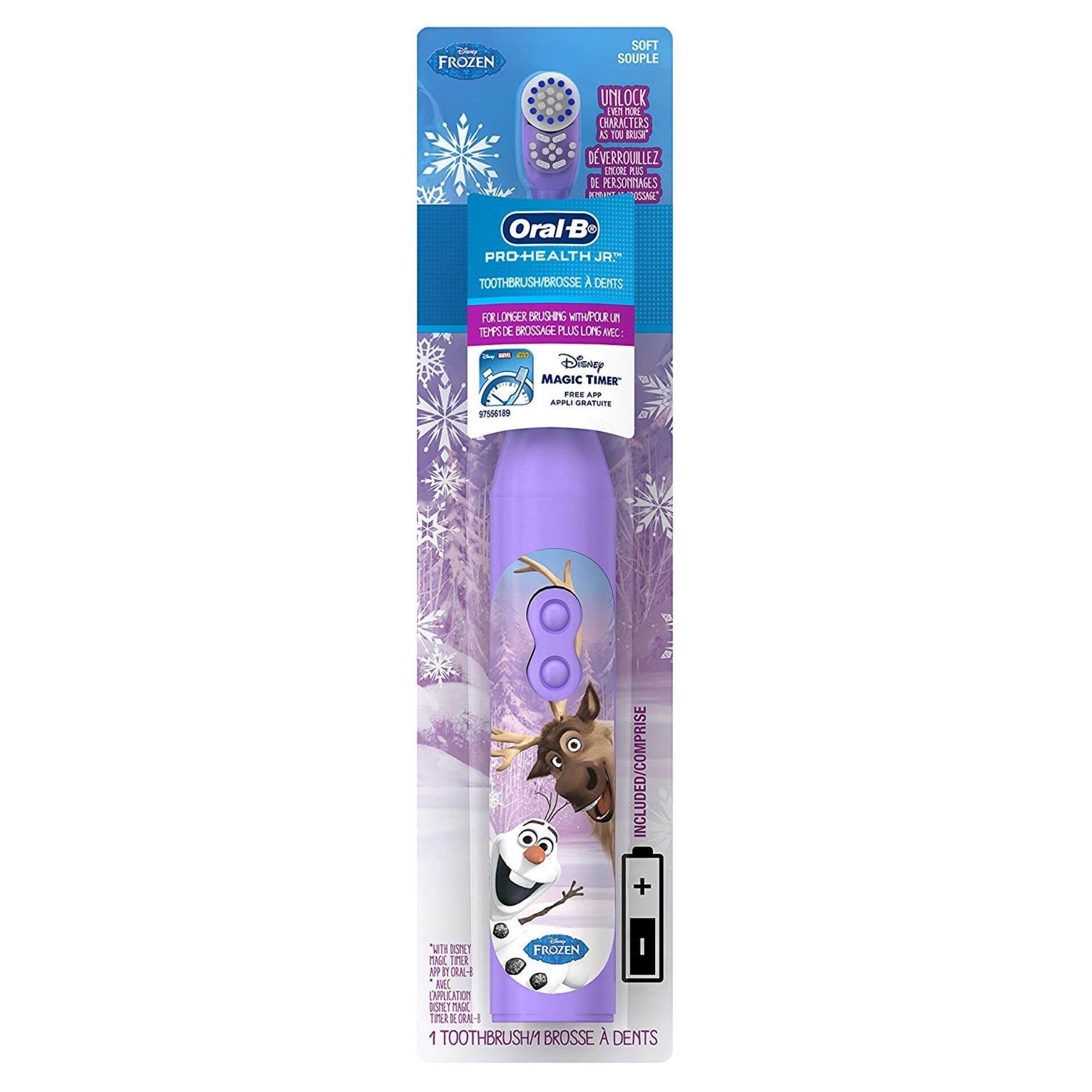 แปรงสีฟันไฟฟ้าเพื่อรอยยิ้มขาวสดใส สงขลา แปรงสีฟันไฟฟ้า Oral B Pro Health Battery Power Electric Toothbrush for Kids Olaf