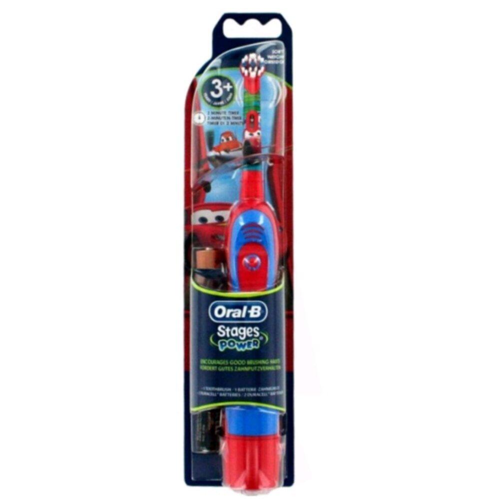 แปรงสีฟันไฟฟ้าเพื่อรอยยิ้มขาวสดใส ชลบุรี แปรงสีฟันแบตเตอรี่ Oral B Stages Power ลาย Cars