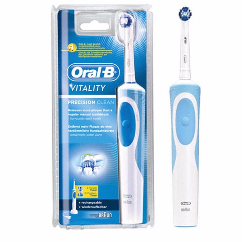 แปรงสีฟันไฟฟ้า รอยยิ้มขาวสดใสใน 1 สัปดาห์ ชุมพร แปรงสีฟันไฟฟ้า Oral B รุ่น Vitality Precision clean