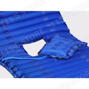 ที่นอนกันแผลกดทับ รุ่นเปิดช่องขับถ่าย ที่นอนลมช่วยป้องกันแผลกดทับสำหรับผู้ป่วย พร้อมมอเตอร์ทำงานอัตโนมัติ- สีน้ำเงิน (ควบคุมคุณภาพ Package Boxset พร้อมกล่อง) - 2
