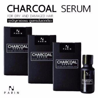 PARIN CHARCOAL SERUM ชาโคล เซรั่ม ดูแลทุกปัญหาผม ครบในขวดเดียว ปริมาณสุทธิ 15 มล. (3 กล่อง)