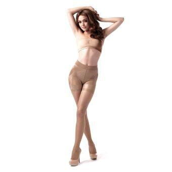 กางเกงเก็บสัดส่วนแบบขาสั้นสีเนื้อ Peachy Pink Curve Short - รุ่น ACSHST22 size M
