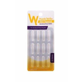 ต้องการขายด่วน Pearlie White หัวแปรงทรงเรียวแปรงซอกฟัน รีฟิล 12 ชิ้น InterdentalHandle Brush Refills - Tapered (Conical) Shape (Pack of 12s)