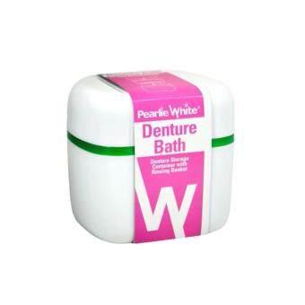 Pearlie White กล่องใส่/แช่ฟันปลอม Denture Bath - Denture Storagewith Rinsing Basket
