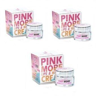 Pink More LipsNipples Cream 3กล่อง