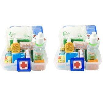 อยากขาย PK MED ชุดปฐมพยาบาล AA สีขาว/น้ำเงิน (2 ชุด)