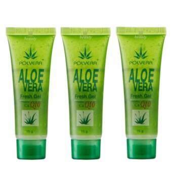 Polvera เจลว่านหางจระเข้ Aloevera Fresh Gel 15g. (3 หลอด)