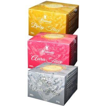 Princess Skin Care ปริ้นเซส สกินแคร์ เซ็ท 3 กระปุก - ครีมหน้าขาว +ครีมหน้าเงา + ครีมหน้าเด็ก ขนาด 20 กรัม (1 ชุด)