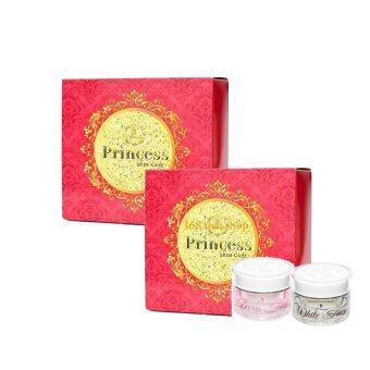 Princess Skin Care ครีม หน้าขาว หน้าเงา WhiteFace  Aura Face(1 เซ็ต มี 2 กระปุก)