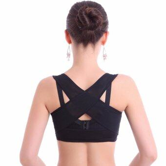 PS เสื้อพยุงหลังช่วยลดอาการปวดหลังและหลังค่อมสีดำ SIZE XL