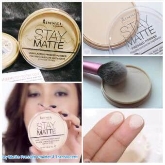 ประเทศไทย Rimmel Stay Matte Pressed Powder #Transparent 14 g. เนื้อแป้งสีโปร่งใช้ได้กับทุกสภาพผิว รุ่นนี้โด่งดังมากในโต๊ะเครื่องแป้งของ Pantip