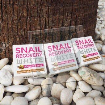 RINLIN Snail Recovery Whitening Soap By AUSA สบู่หอยทาก สบู่สเนล สูตรกระจ่างใส ผิวนุ่มเนียน อย่างเป็นธรรมชาติ ใช้ฟอกหน้า ฟอกผิวกาย ผิวขาวสุขภาพดี (65g.) - แพ็ค 3 ก้อน